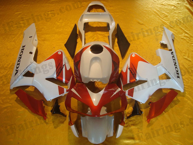2003 2004 CBR600RR red and white fairing kits.