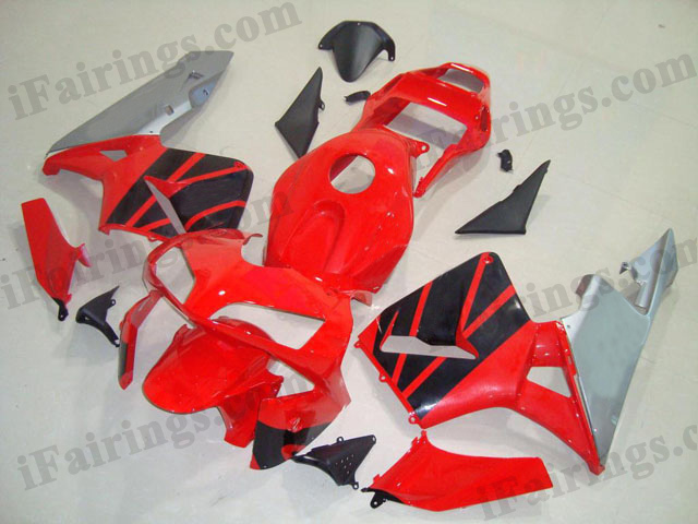 2003 2004 CBR600RR red,silver and black fairing kits.