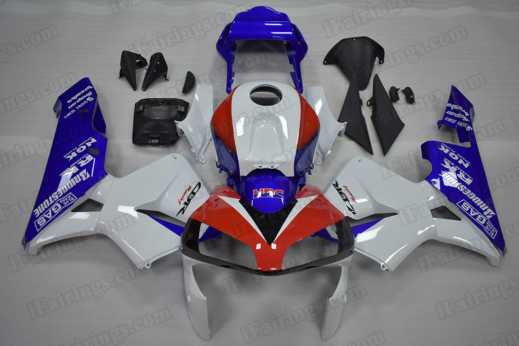 2003 2004 Honda CBR600RR Red/White/Blue Fairing Kit.