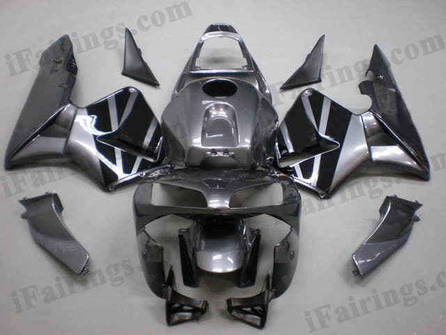 2003 2004 Honda CBR600RR grey with black strips fairing kits