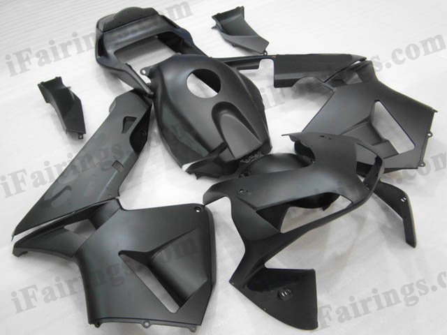 2003 2004 Honda CBR600RR matte black fairings.