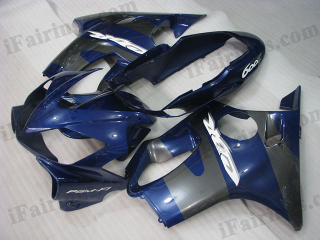 2004 2005 2006 2007 Honda CBR600 F4i blue and grey fairing kits