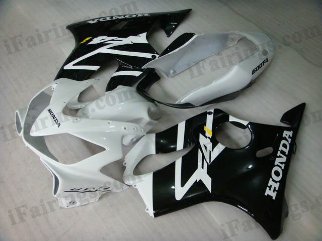 2004 2005 2006 2007 Honda CBR600 F4i white and black fairing kits