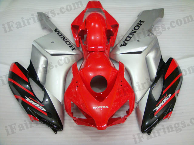 2004 2005 CBR1000RR red and silver fairings and body kits