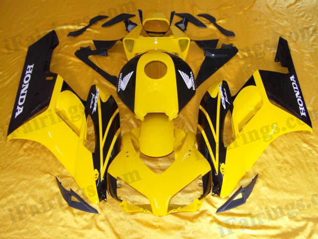 2004 2005 CBR1000RR yellow and black fairings