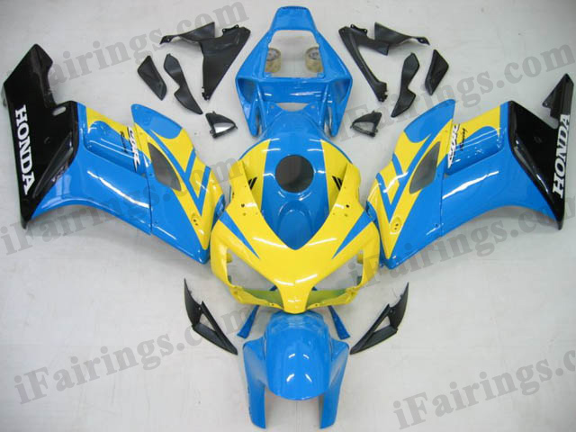 2004 2005 CBR1000RR yellow/blue/black custom fairings