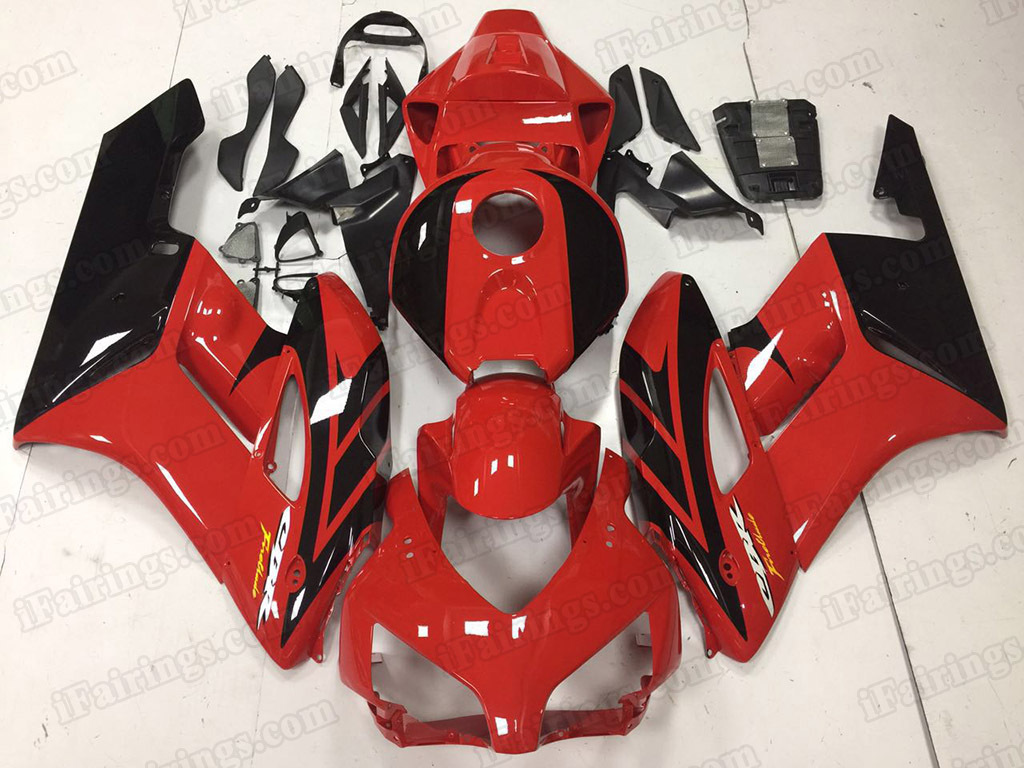2004 2005 Honda CBR1000RR OEM Scheme Fairing Kits Red/Black.