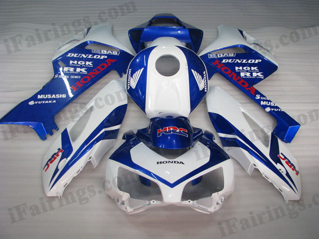 2004 2005 Honda CBR1000RR blue and white fairing kits.