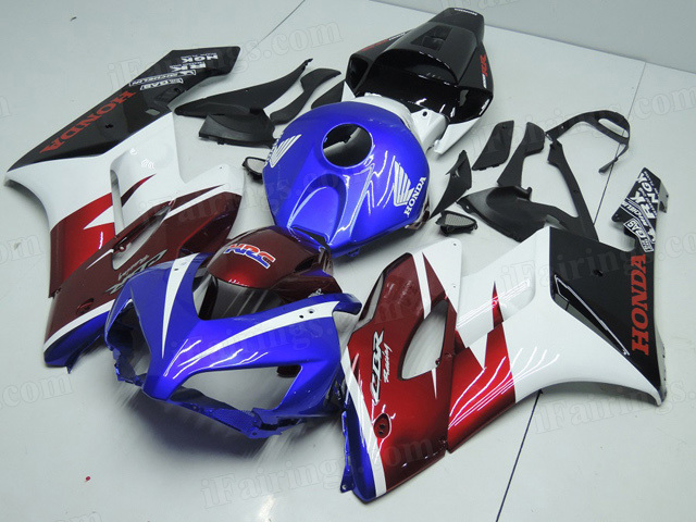 2004 2005 Honda CBR1000RR blue/red/white/black scheme fairings.