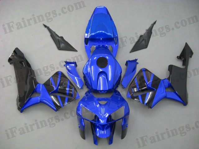2005 2006 CBR600RR blue and black fairing kits.