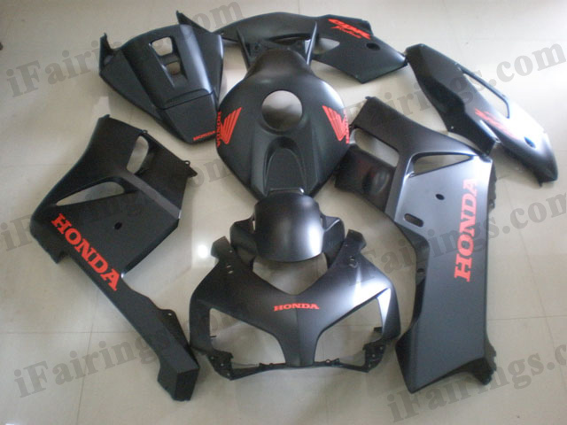 2004 2005 Honda CBR1000RR matt black fairing kits.
