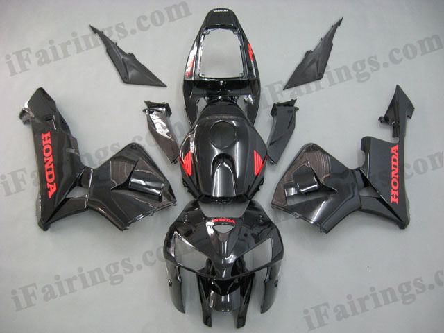 2005 2006 CBR600RR glossy black fairings
