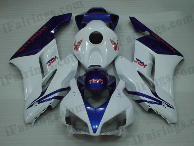 2004 2005 Honda CBR1000RR white and blue fairing kits.