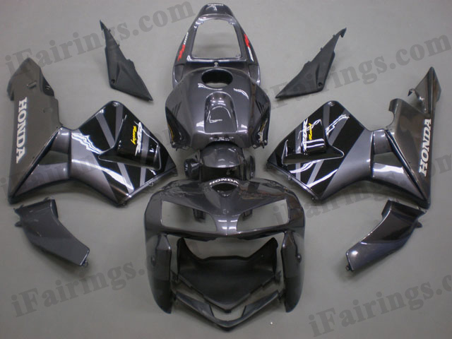 2005 2006 CBR600RR gray and black fairings.