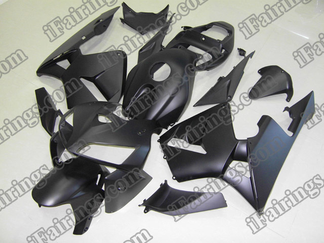 2005 2006 CBR600RR matt/flat black fairings and body kits.