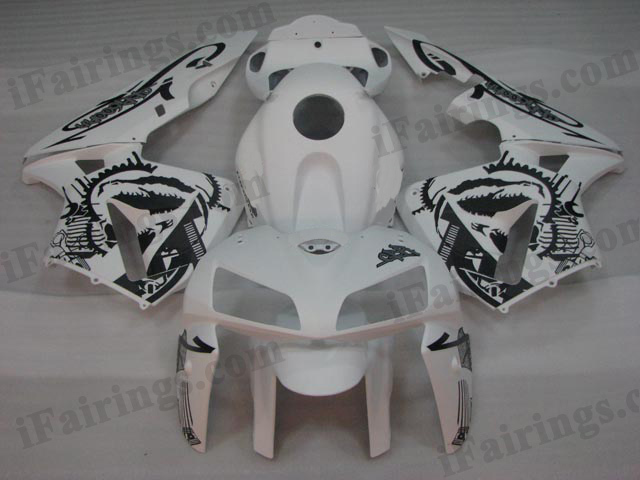 2005 2006 Honda CBR600RR custom matt white fairing kits.