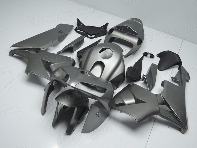 2005 2006 Honda CBR600RR matte grey paint fairing kits.