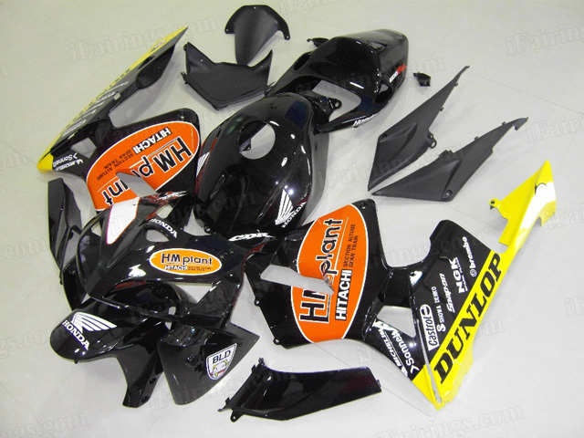 2005 2006 Honda CBR600RR HM plant graphic fairings.