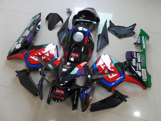2005 2006 Honda CBR600RR PATA graphic fairings.