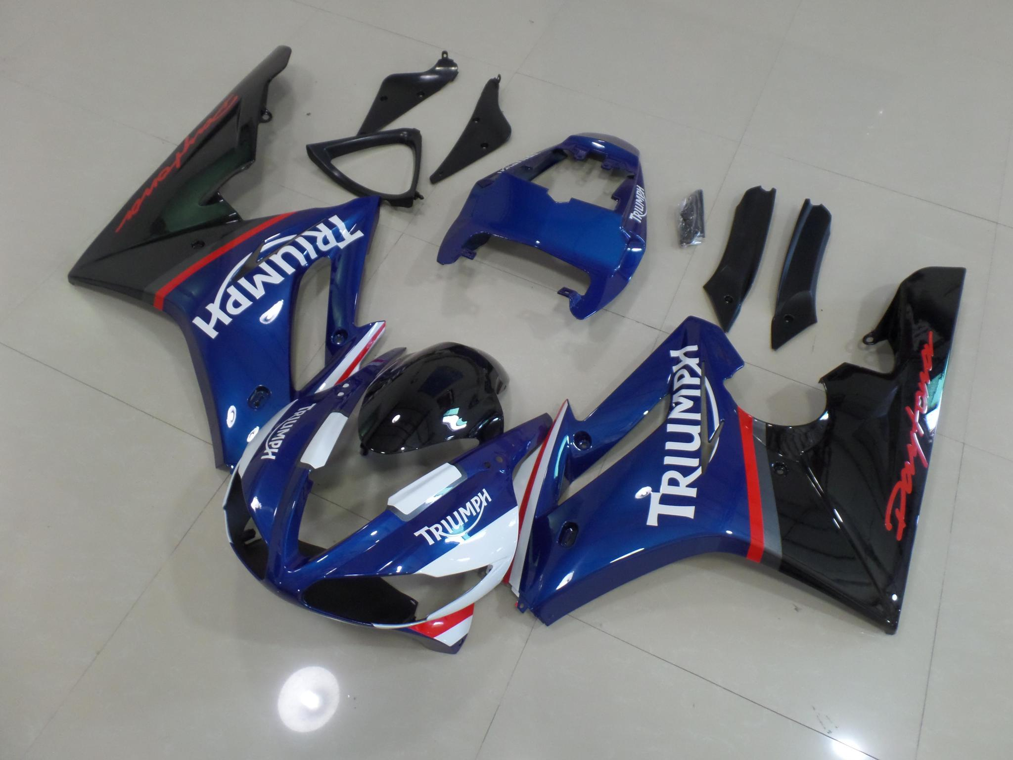 TRIUMPH DAYTONA 675 2009 2011 BLUE AND BLACK 2