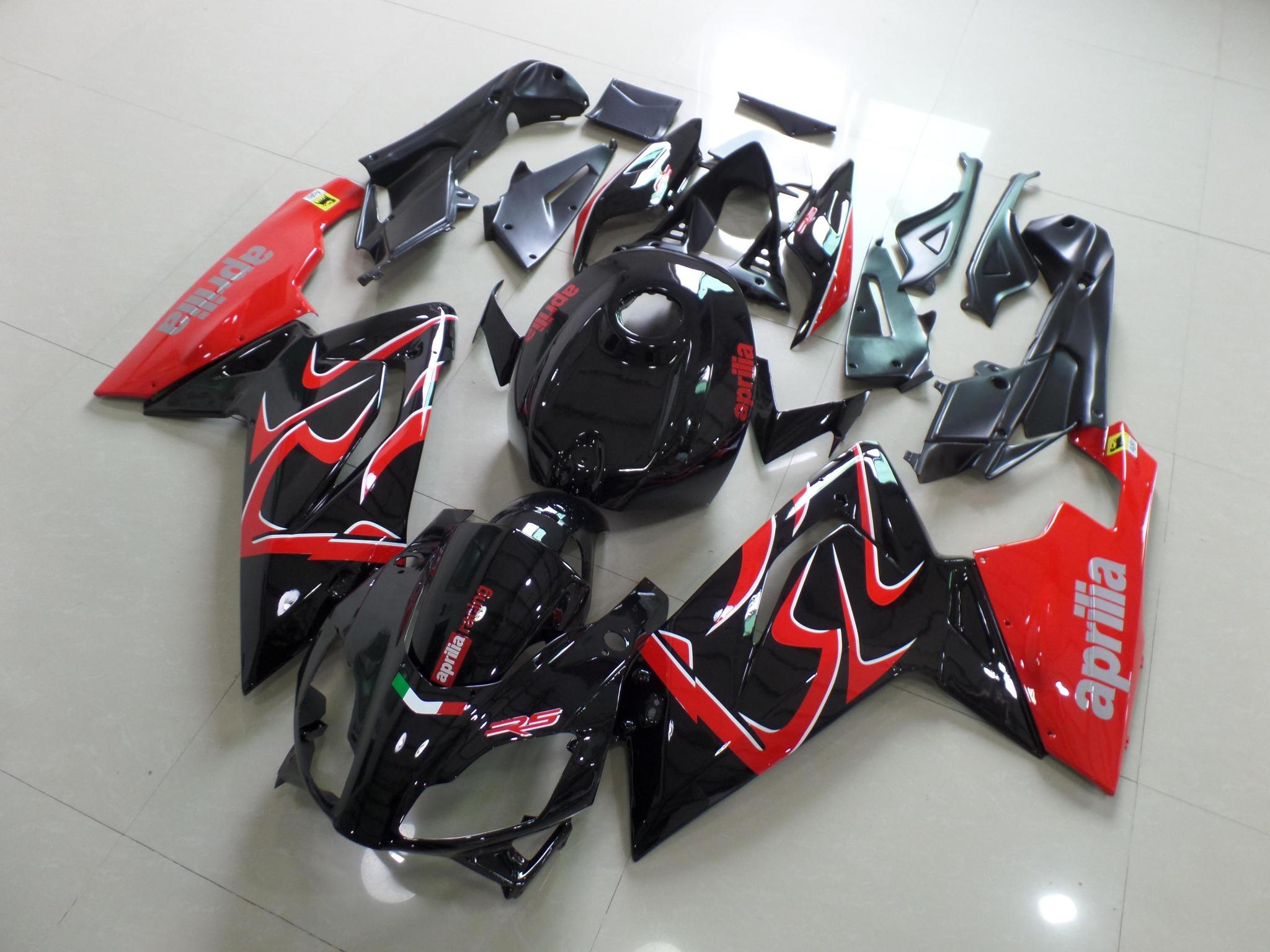 RS125 2006 2011 BLACK AND RED