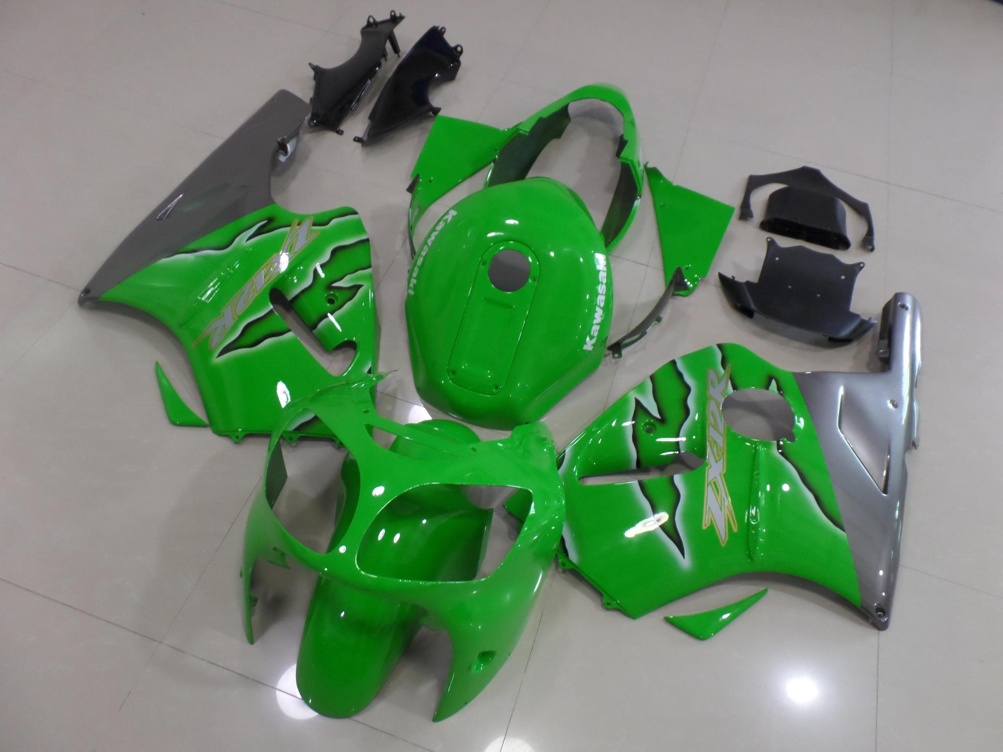 2000 2001 zx12r green flame