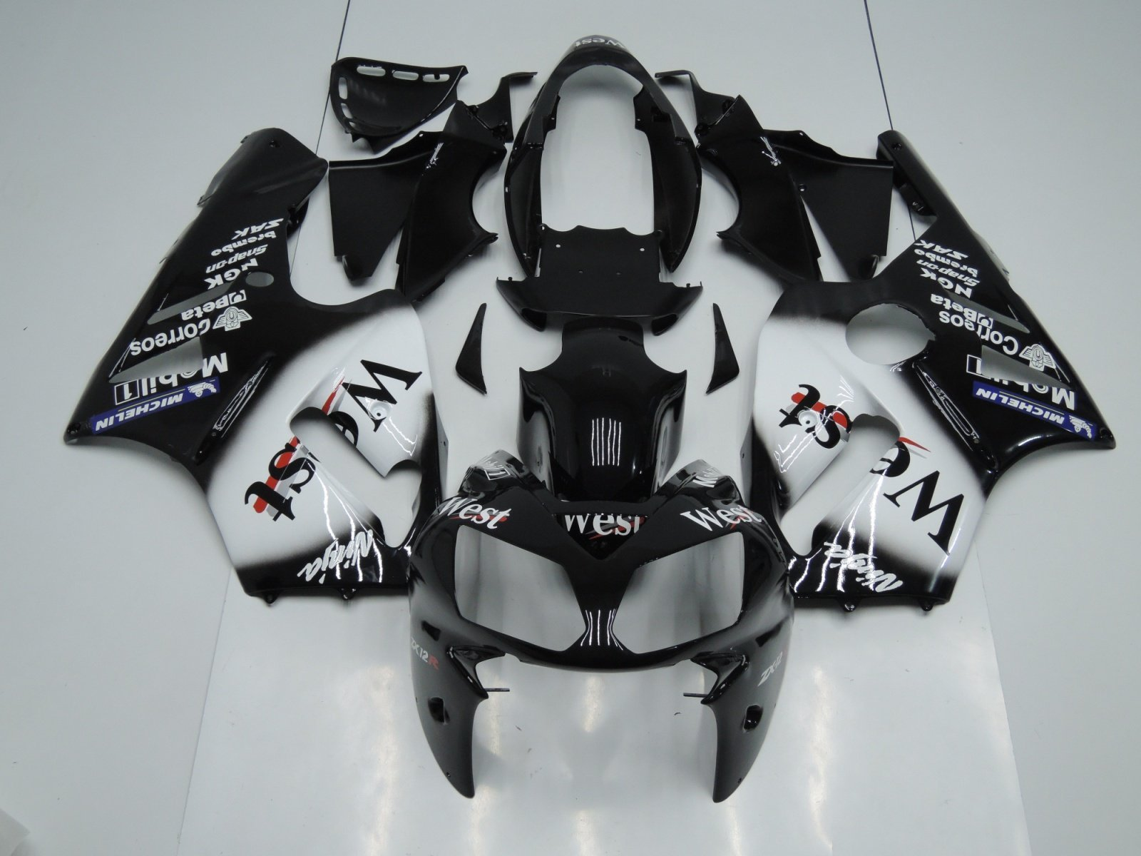 2002-2004 zx12r black white west 2