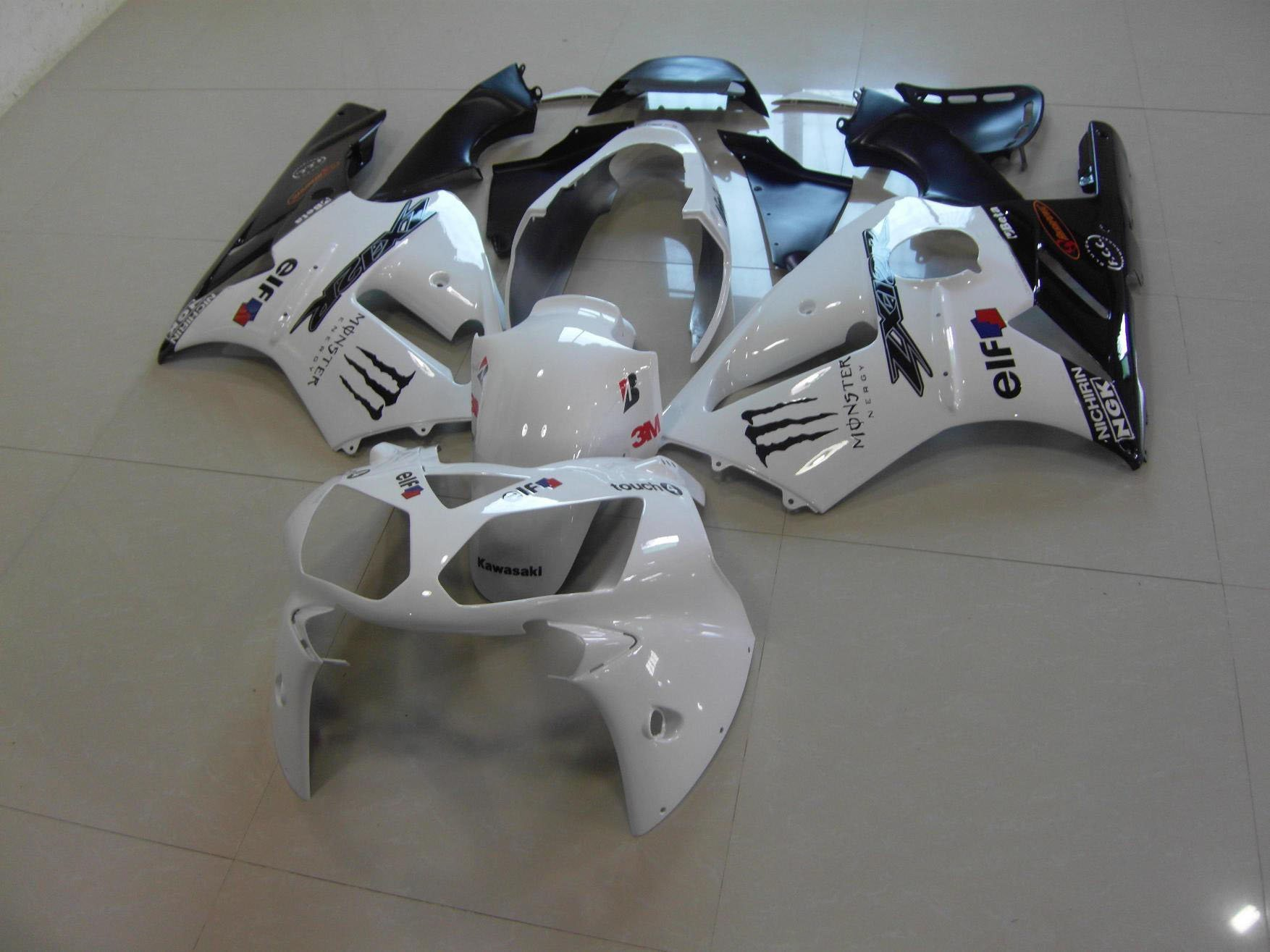 2002-2004 zx12r white black monster