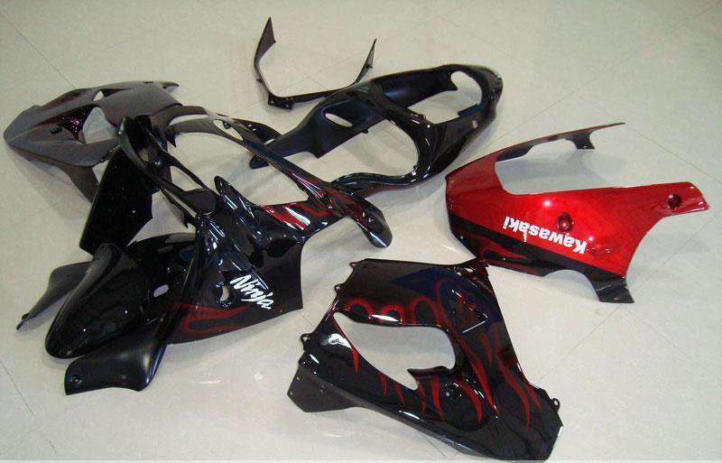 2000-2001 zx9r black red flame