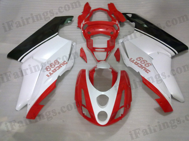 aftermarket fairing kit for Ducati 749/999 2003 2004 red,white and black.
