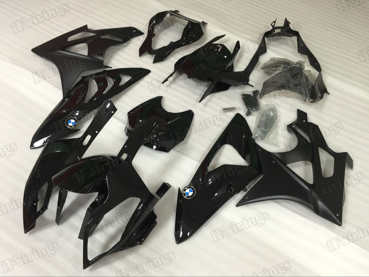 2009 2010 2011 2012 2013 2014 BMW S1000RR black fairings.