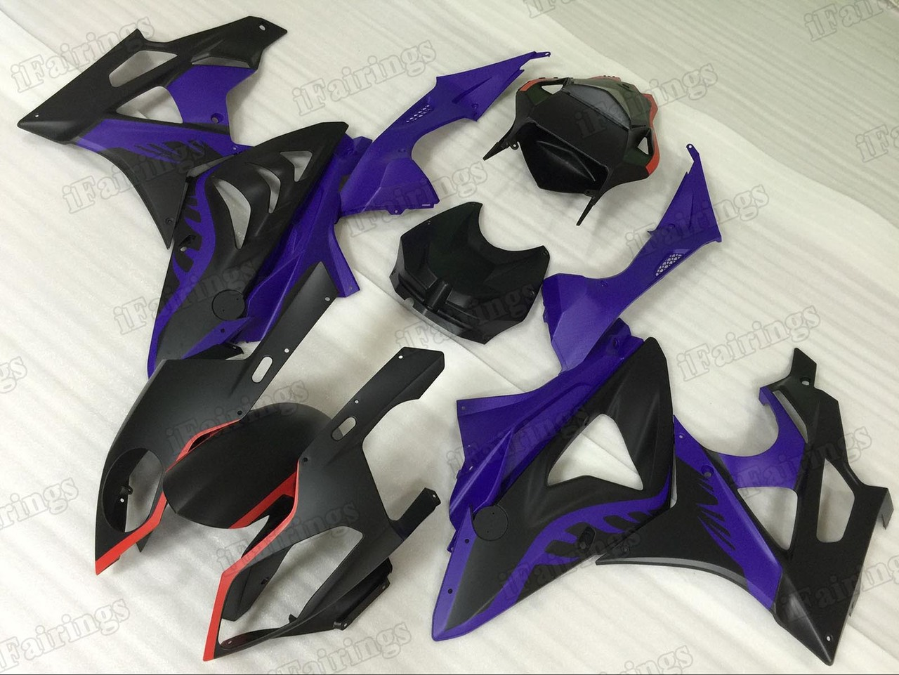 2009 2010 2011 2012 2013 2014 BMW S1000RR black and blue fairing kit.