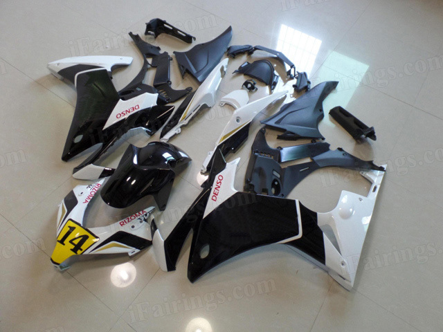 2013 2014 2015 Honda CBR500R custom fairing kits with PLAYBOY symbol.