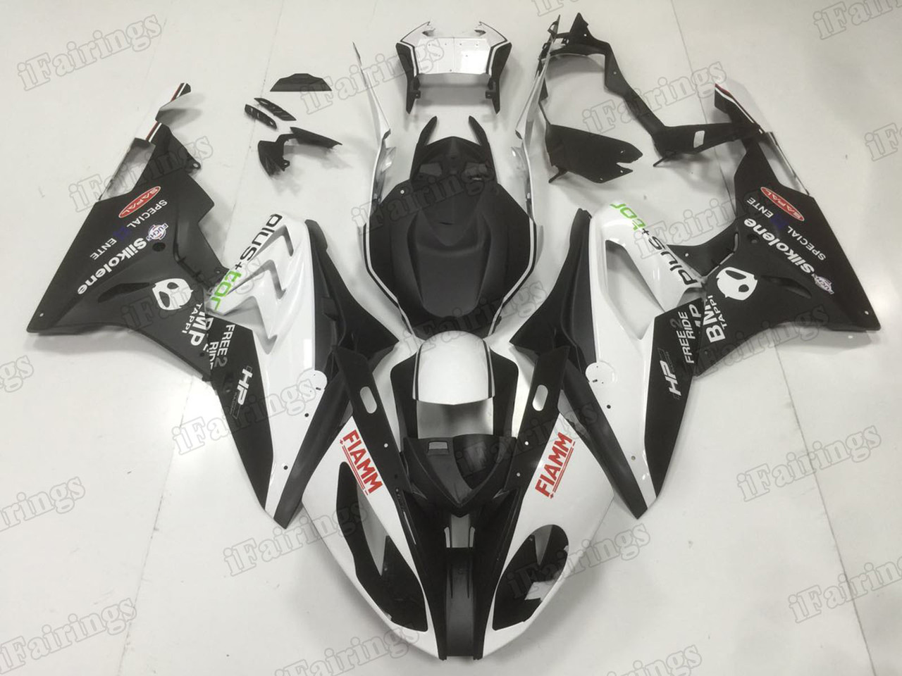 2015 2016 BMW S1000RR FIAMM matte black fairing kits.