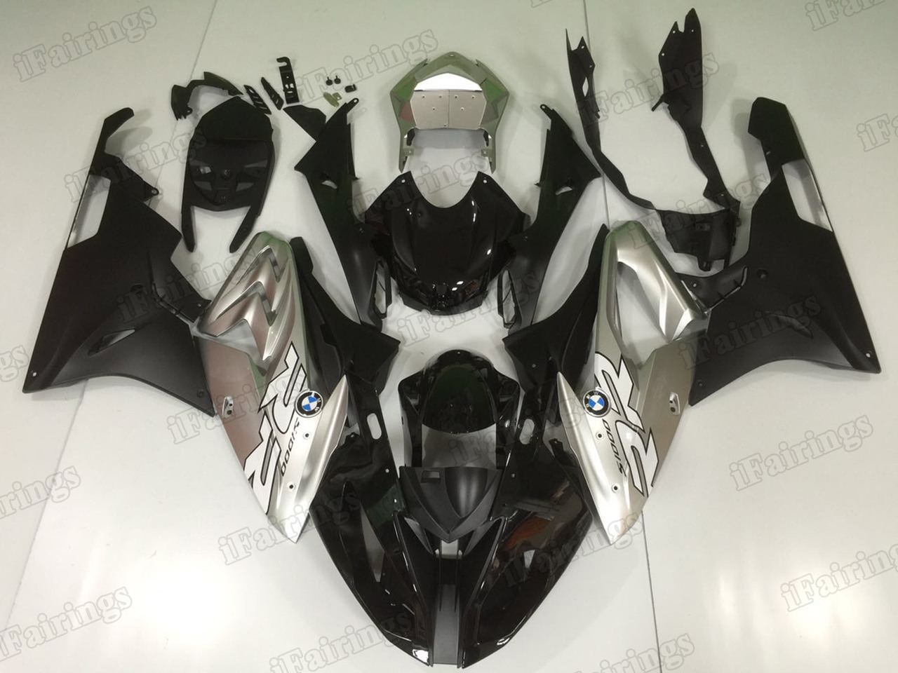 2015 2016 BMW S1000RR silver and black fairings