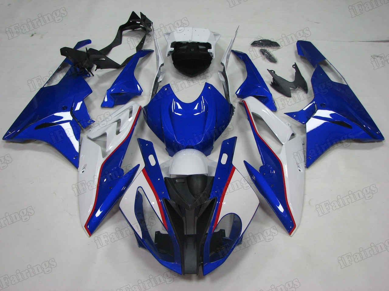 2015 2016 BMW S1000RR blue and white fairings.