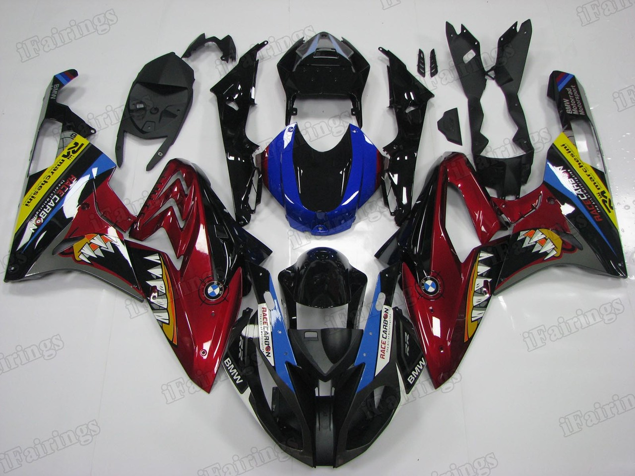 2015 2016 BMW S1000RR shark scheme fairings.