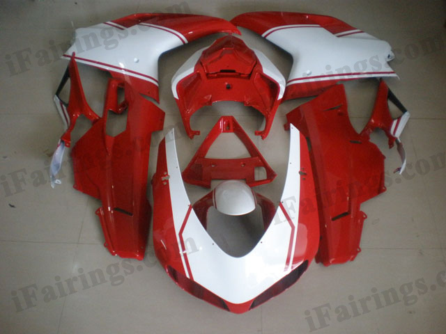 Ducati 848/1098/1198 red and white fairing kits.