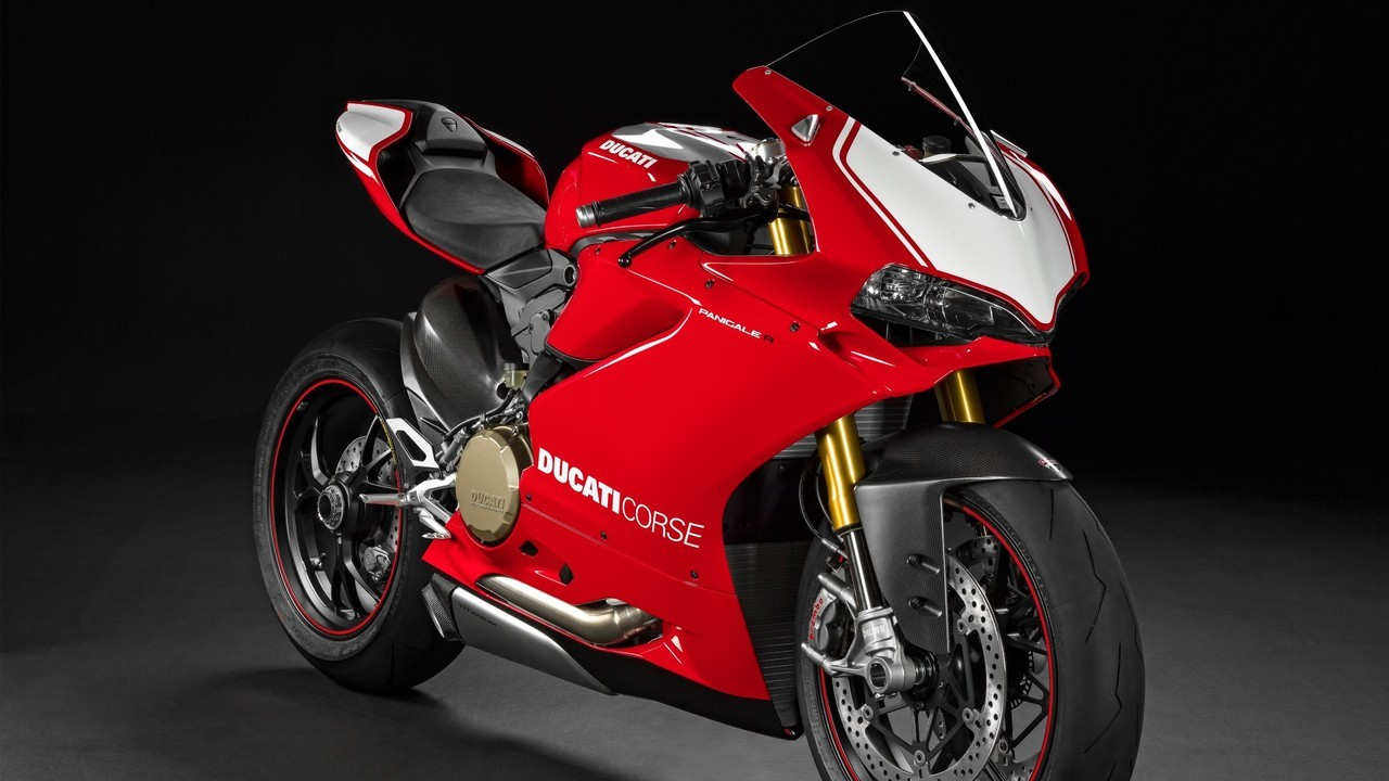 Ducati 1299 Panigale Red and White Fairing Kit.