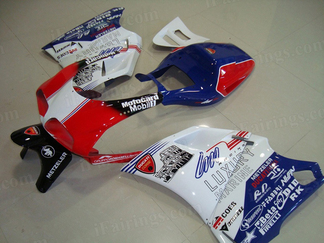 Ducati 748/916/996 compatible fairing kits.