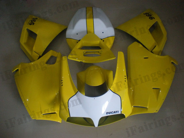 Ducati 748/916/996 yellow and white fairing kits.