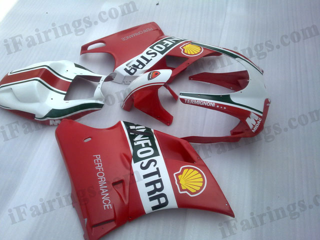 aftermarket fairings for Ducati 748/916/996 INFOSTRADA graphics.
