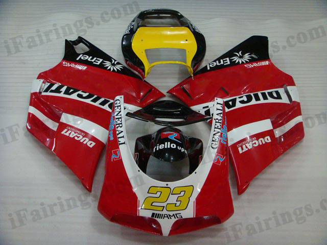 aftermarket fairings for Ducati 748/916/996 red and black.