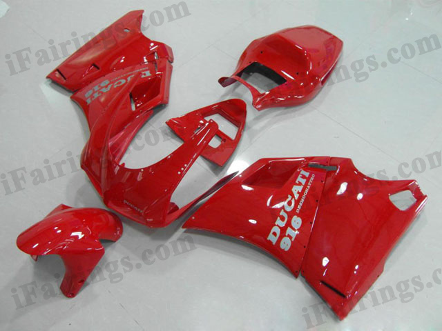 Ducati 748/916/996 replacement candy red fairings and body kits