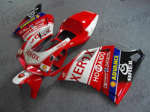 aftermarket fairing kits for Ducati 748/916/996 xerox graphic.