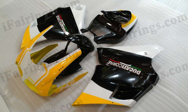 Replacement fairings and bodywork for Ducati 748/996/916 yellow/black/white