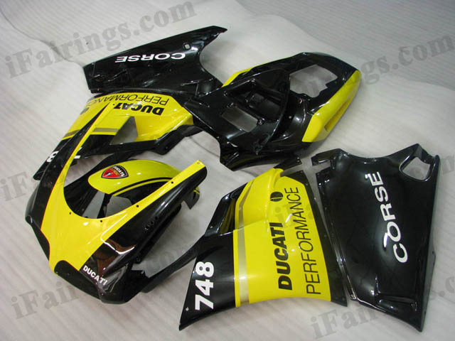 Replacement fairings for Ducati 748/916/996 yellow and black