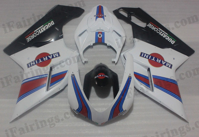 Ducati 848/1098/1198 MARTINI fairing kits.