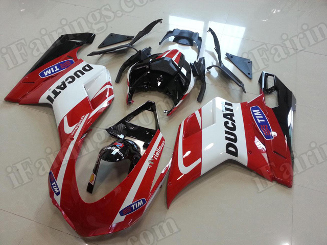 replacement fairings/bodywork for Ducati 848/1098/1198 red, white and black.