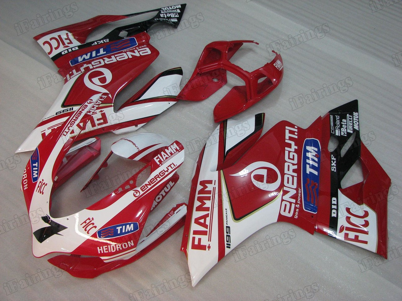 Motorcycle fairings/bodywork for Ducati 899/1199 alstare FIAMM graphic.